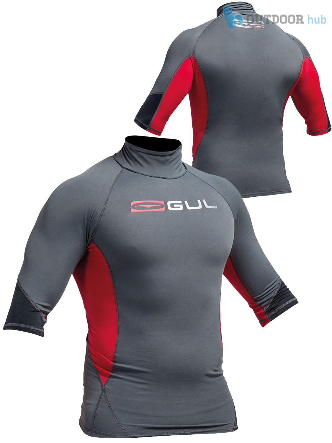 Gul-Xola-Mens-Short-Sleeve-Rash-Guard-Vest-Wetsuit-Top-UV-50-Surf-Swim-Dive thumbnail 4