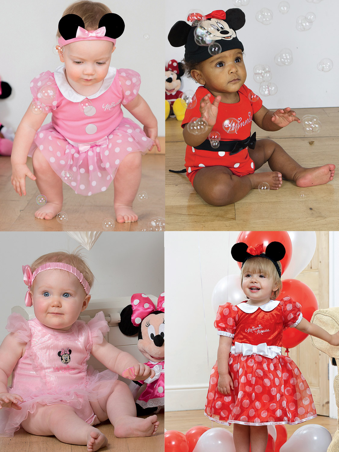 LICENSED CHILD GIRLS PINK MINNIE MOUSE FANCY DRESS HALLOWEEN COSTUME