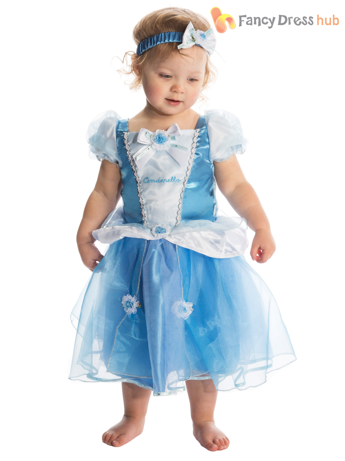 Princess Girl Fairytale Fancy Dress Up Outfit Baby Toddler Blue Skirts Gown Kids