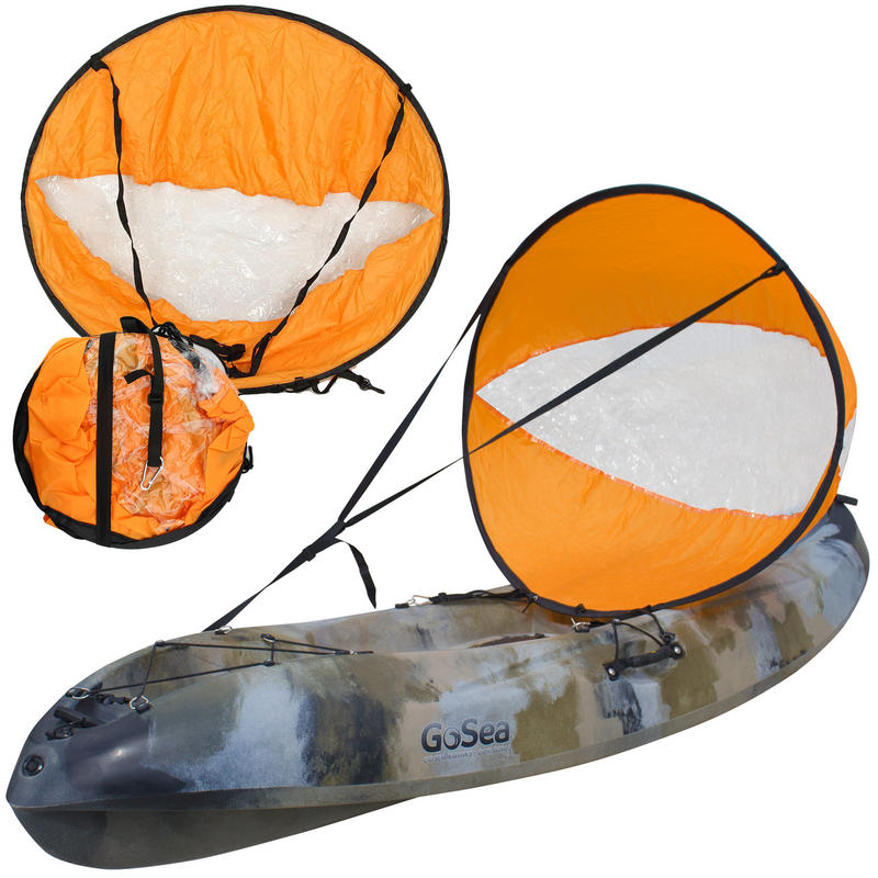 Orange Kayak Sail