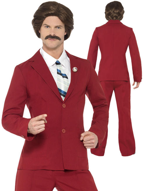 Men's Anchorman Rob Burgundy Costume