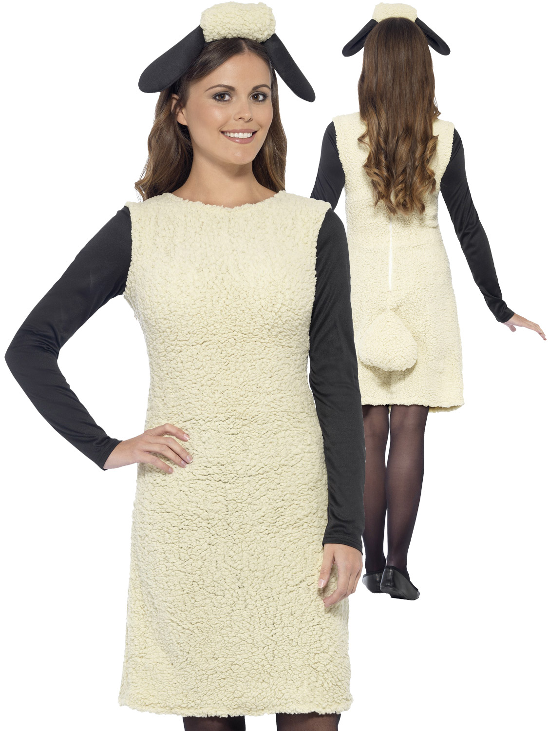 Image 2  sc 1 st  eBay & Ladies Shaun the Sheep Costume Adult Wallace and Gromit Fancy Dress ...