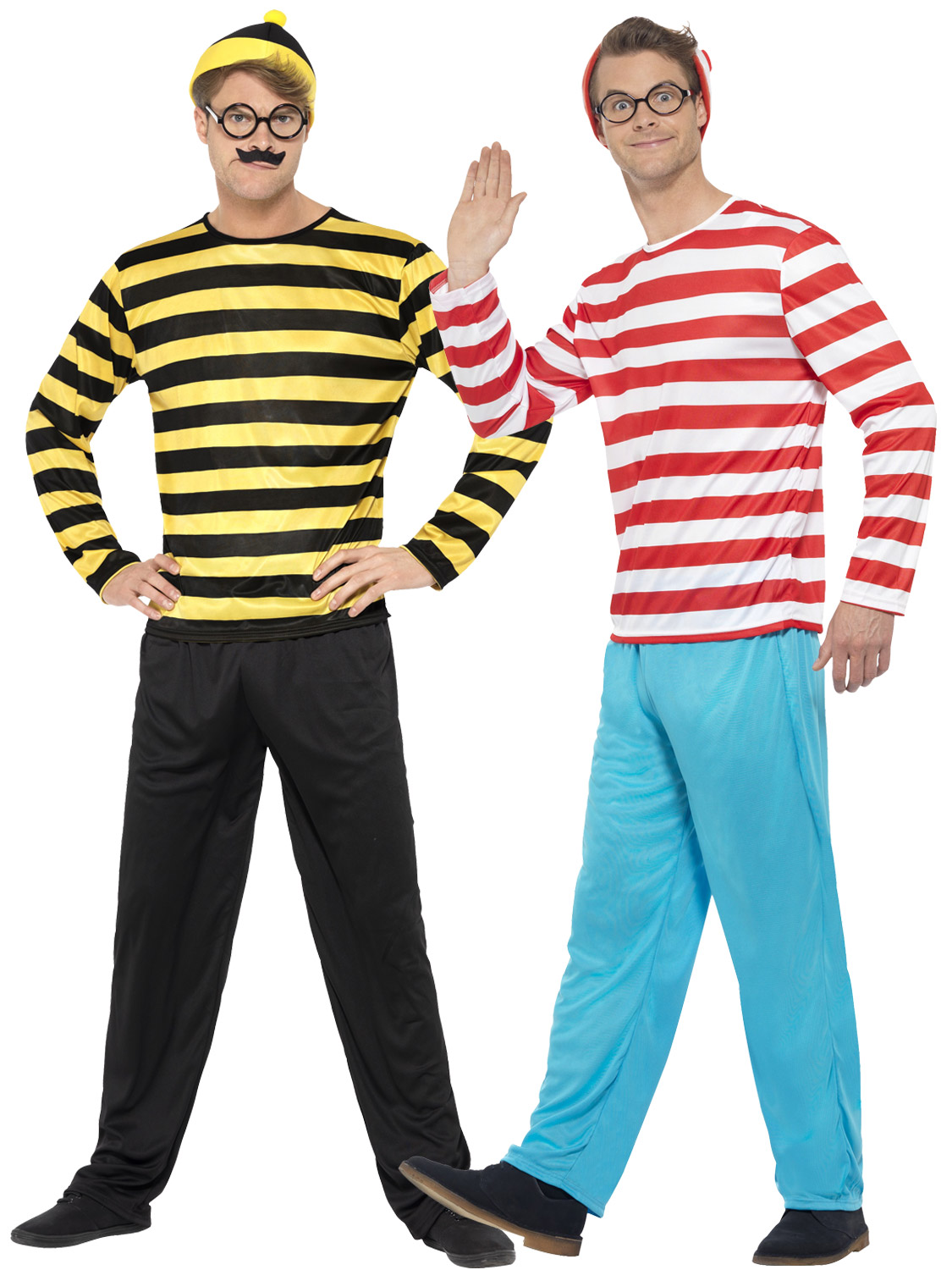 Wheres Wally Suit Adults Licensed Book Day Fancy Dress Outfit Mens Suit
