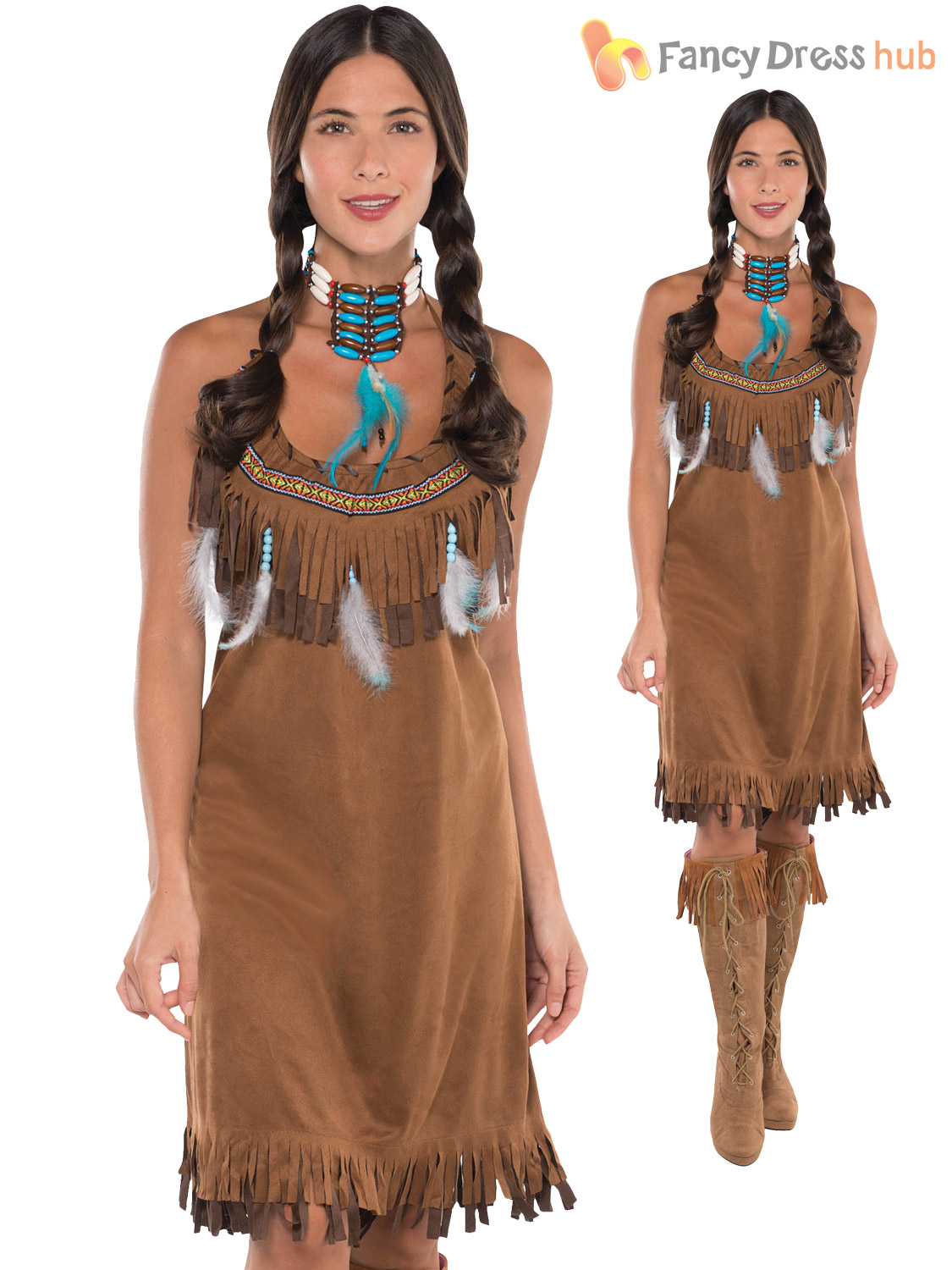 ladies red indian costume adults pocahontas native. Black Bedroom Furniture Sets. Home Design Ideas