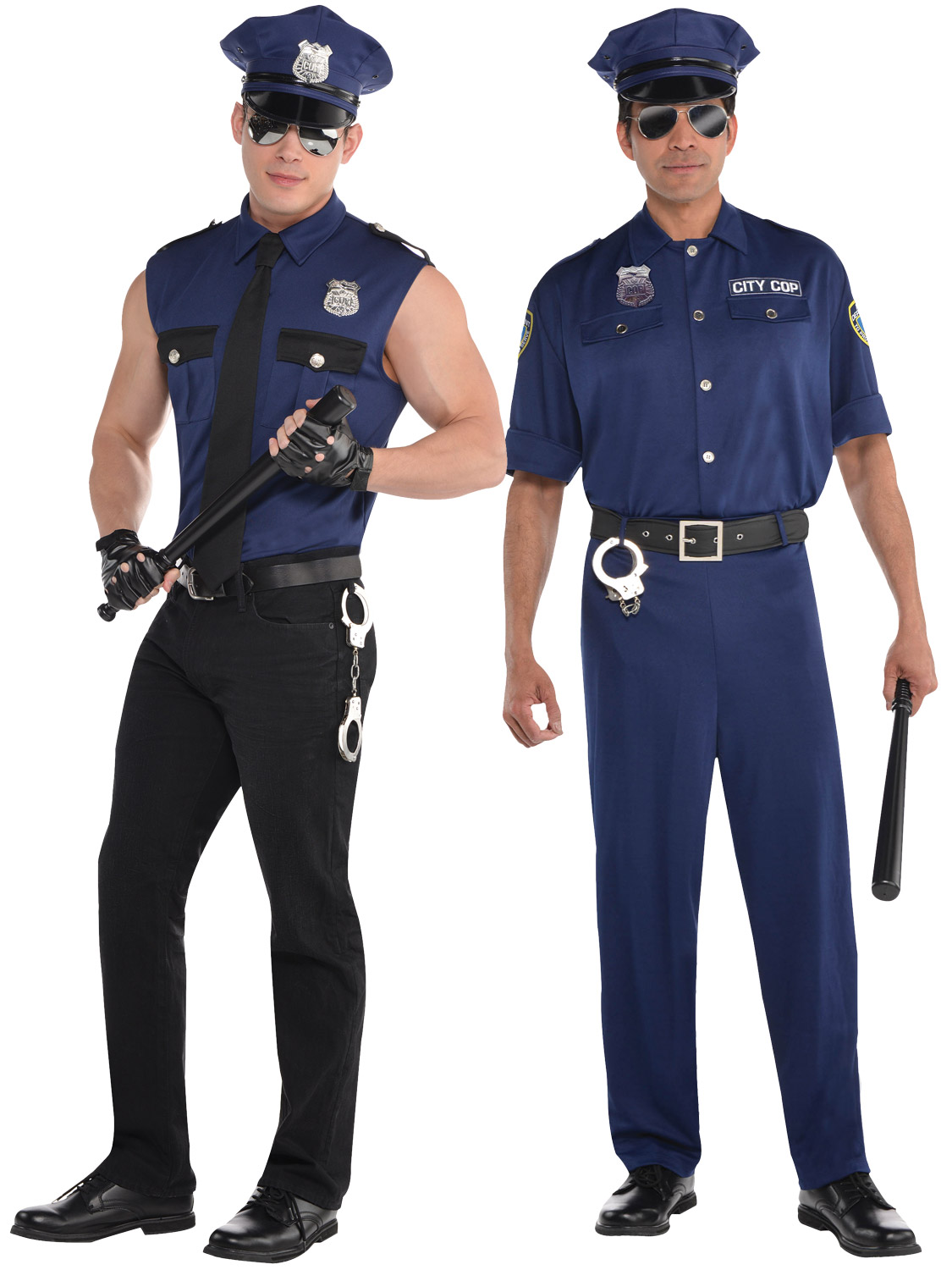 adult mens police officer costume policeman new york cop