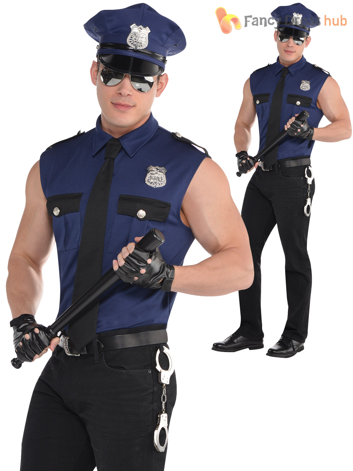 Adult mens police officer costume policeman new york cop fancy dress adult mens police officer costume policeman new york solutioingenieria Images