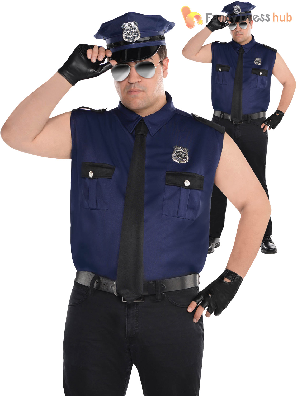Adult policeman costume remarkable