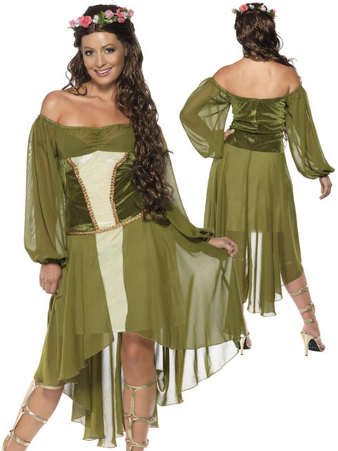 Ladies Maid Marion Costume