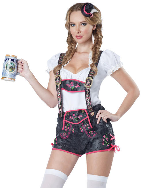 Ladies Flirty Lederhosen Costume