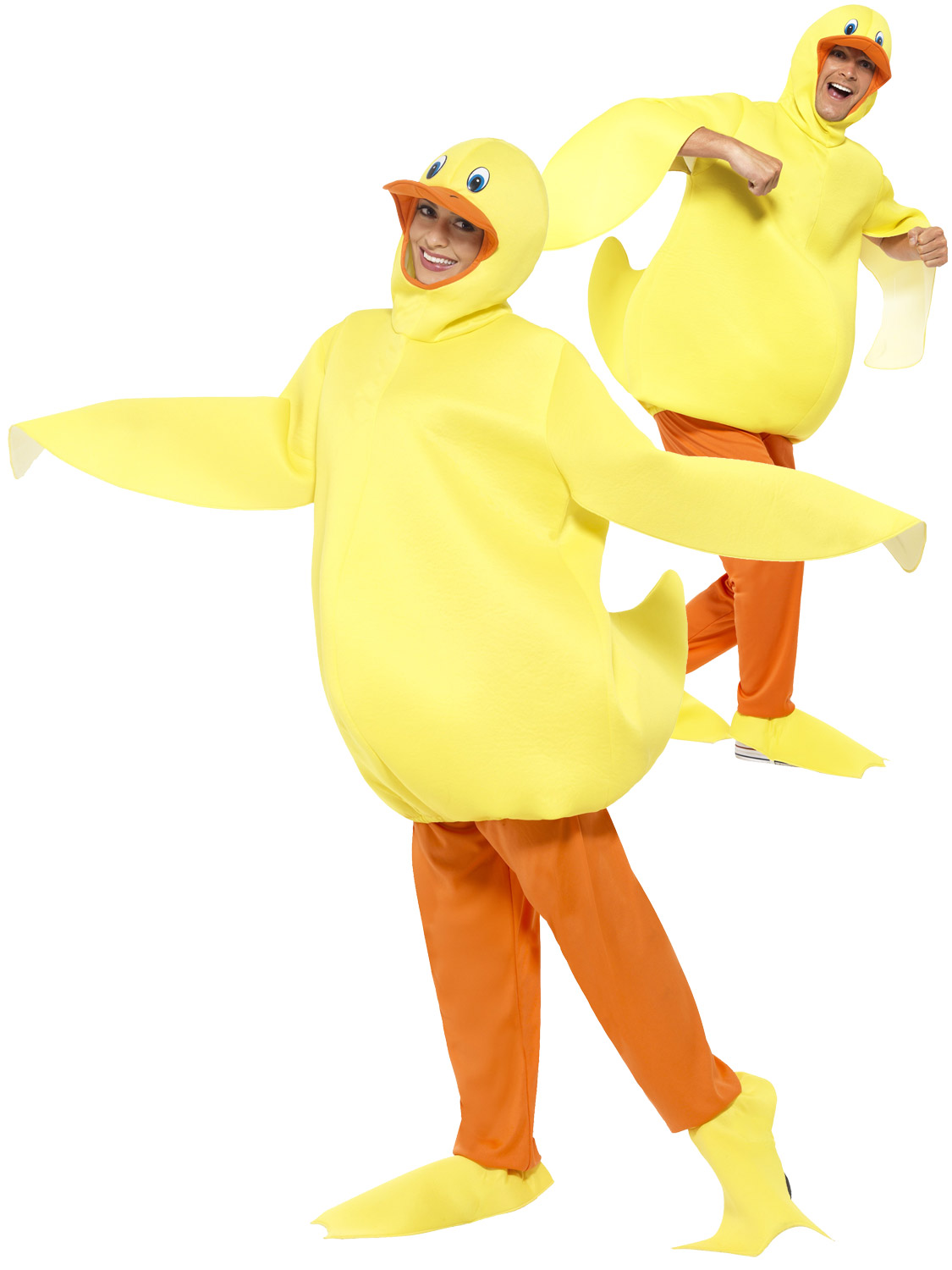Adults duck costume mens ladies farm animal fancy dress novelty transform yourself into a duck with this adults duck fancy dress costume youll definitely impress at the party solutioingenieria Gallery