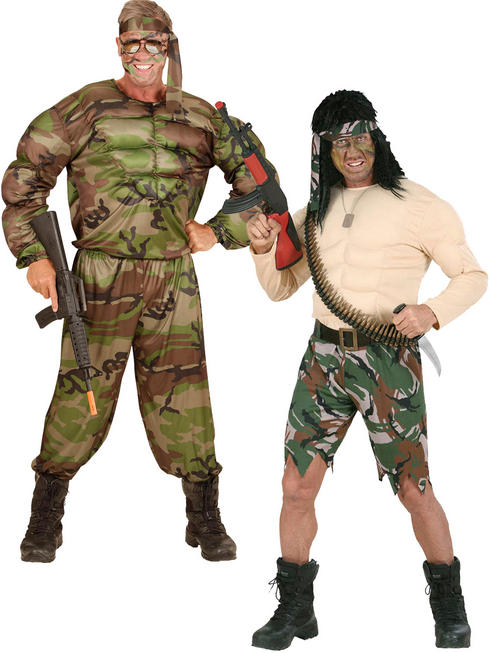 Men's Super Muscle Soldier Costume