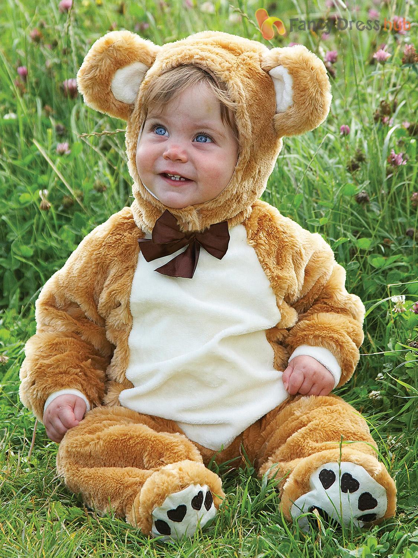 Baby Toddler Deluxe Teddy Bear Costume Girl Boy Animal