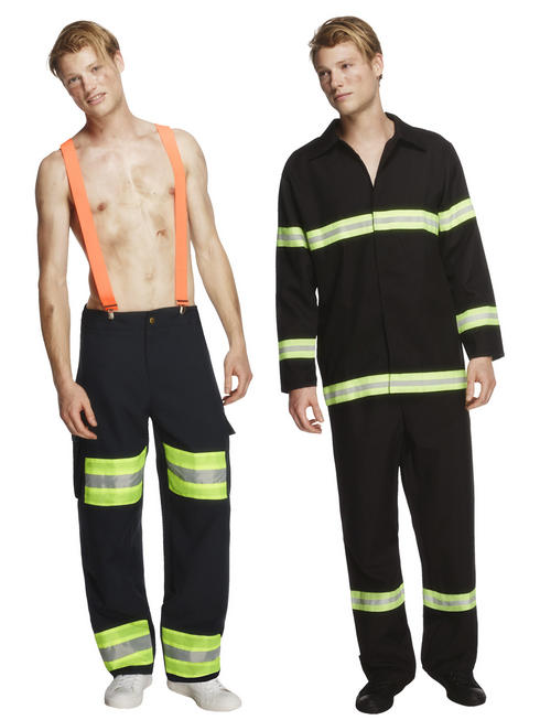 Men's Fever Fireman Costume