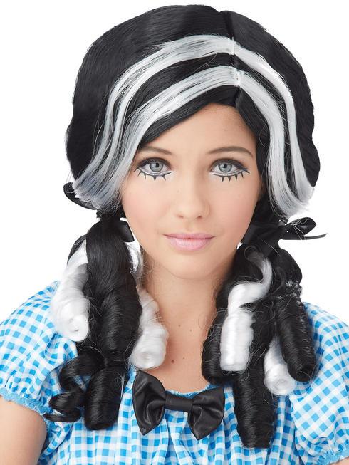 Ladies Black Doll Curls Wig