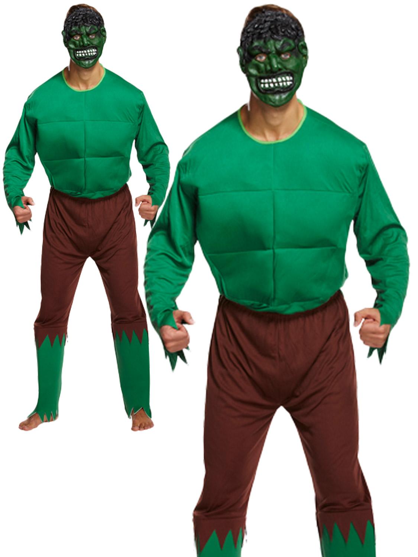Mens hulk costume adults green giant fancy dress monster superhero transform yourself into the hulk with this mens green giant fancy dress costume solutioingenieria Choice Image