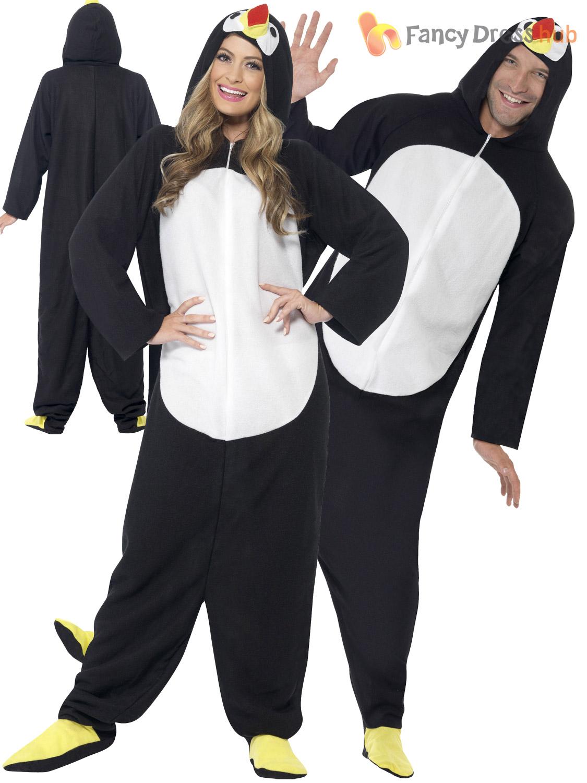 Adults-Penguin-Costume-Mens-Ladies-Happy-Feet-Fancy-  sc 1 st  eBay & Adults Penguin Costume Mens Ladies Happy Feet Fancy Dress Bird ...