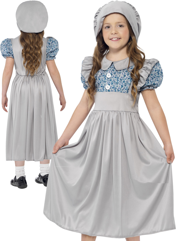 Girls victorian school girl costume world book day fancy dress image 2 solutioingenieria Gallery