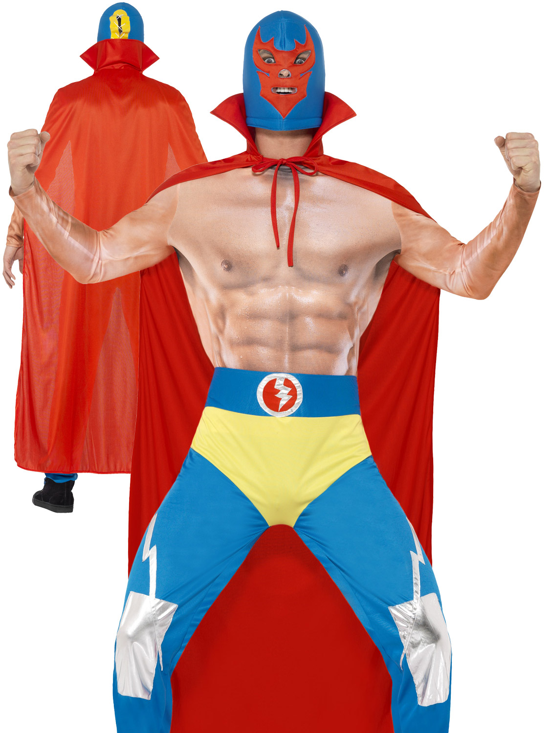 Mens mexican wrestler costume adults sports fighter fancy dress wwe transform yourself into a wwe wrestler with this mens mexican wrestle costume solutioingenieria