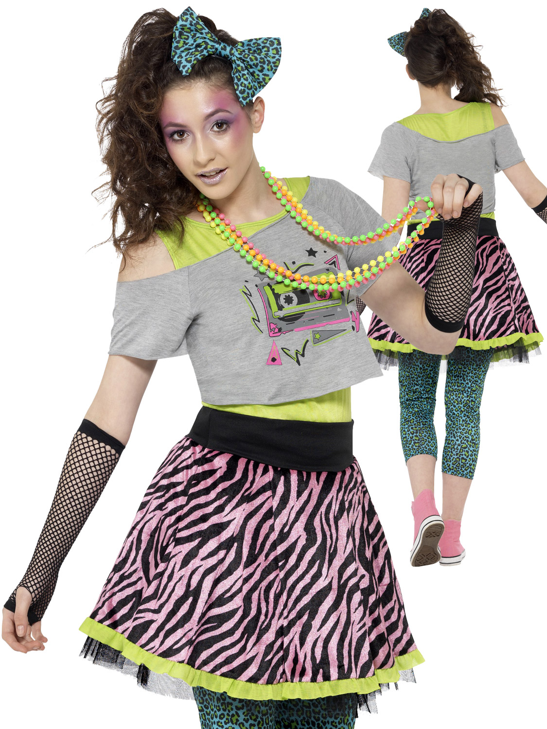 Ladies 80's Wild Child Costume | All Ladies | Fancy Dress Hub