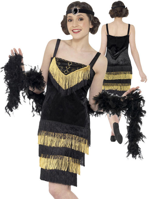 Girl's Teen Flapper Girl Costume