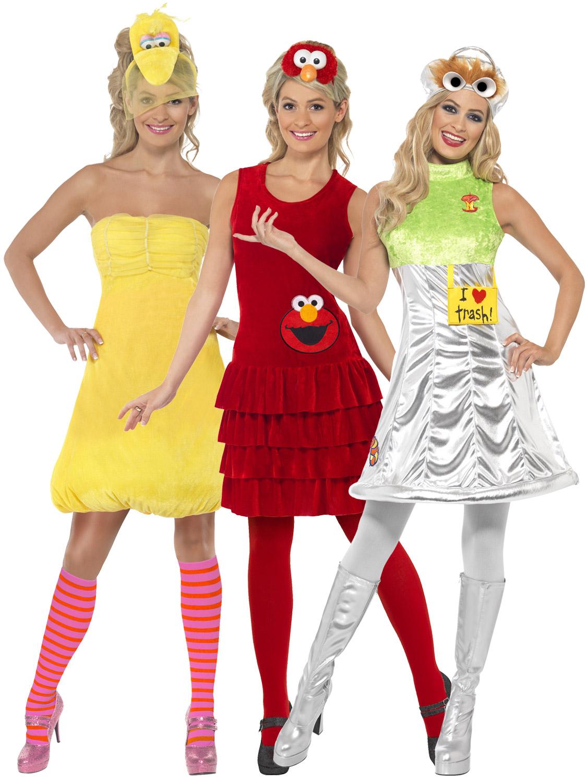 las sesame street costume s big bird elmo oscar fancy dress