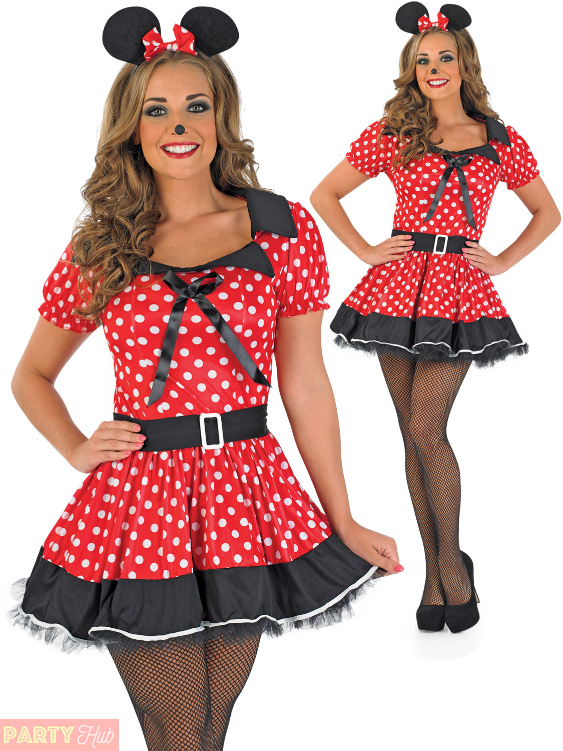 Ladies Missy Mouse Costume Adults Mini Fancy Dress Womens Book Week Day Outfit
