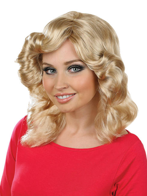 Ladies Blonde Farrah Flick Wig
