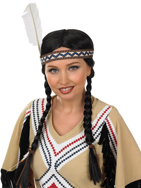 Ladies Indian Squaw Wig