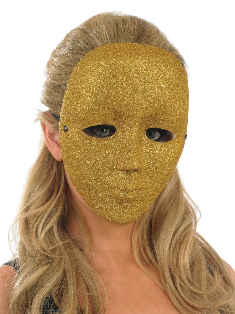Ladies Gold Full Face Mask
