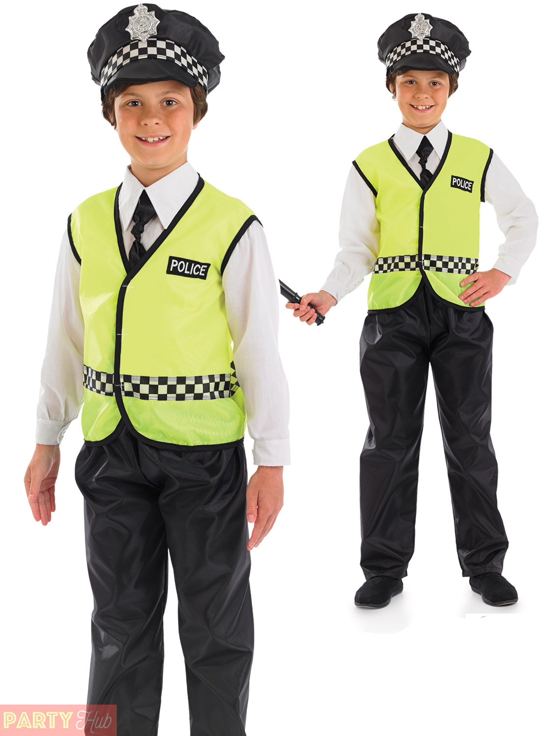 Childs Policeman Costume + Hat Boys Police Fancy Dress Kids Cop Uniform Outfit | eBay