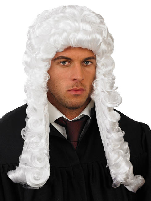 Adults White Judge Wig