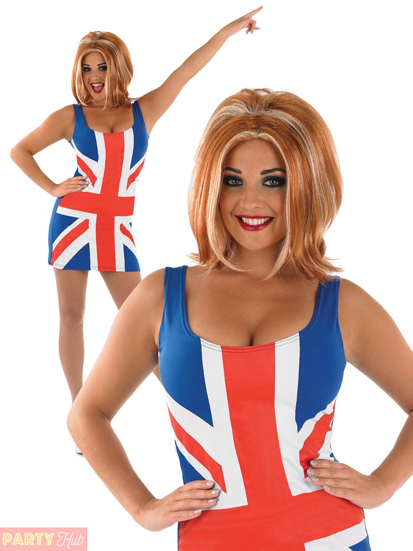 ladies union jack dress costume gingerwig spice girls
