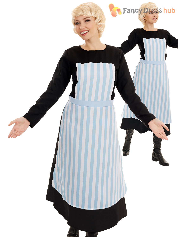 Womens Austrian Singing Nanny Ladies Fancy Dress Party Costume Size ...