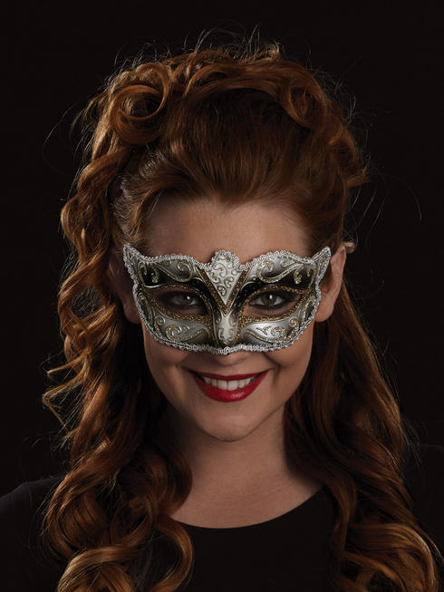 Black, Gold & White Fabiola Eye Mask