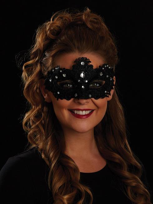 Black Allegra Eye Mask