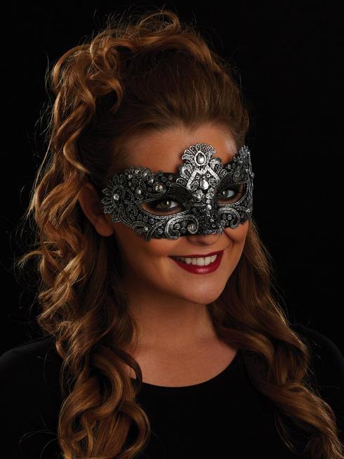 Black & Silver Allegra Eye Mask