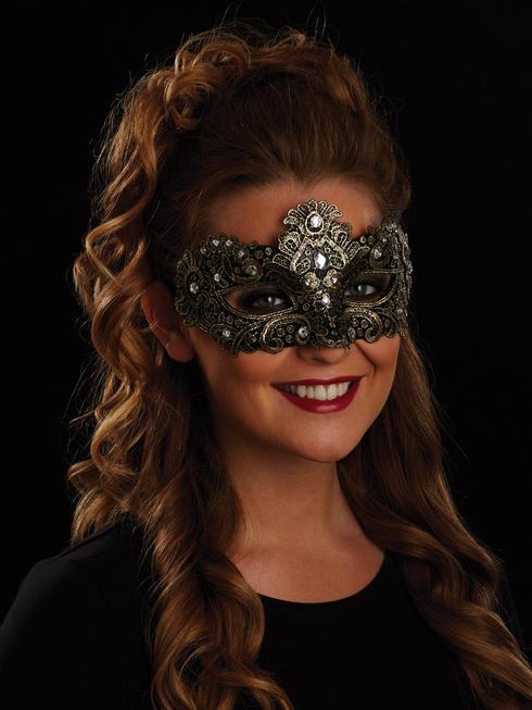 Gold Allegra Eye Mask