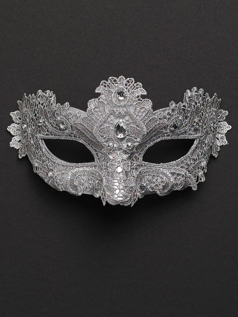 Silver Allegra Eye Mask