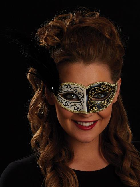 Black, Gold & White Giovanna Eye Mask