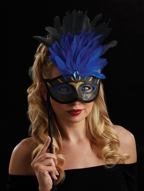 Blue & Gold Oriana Eye Mask