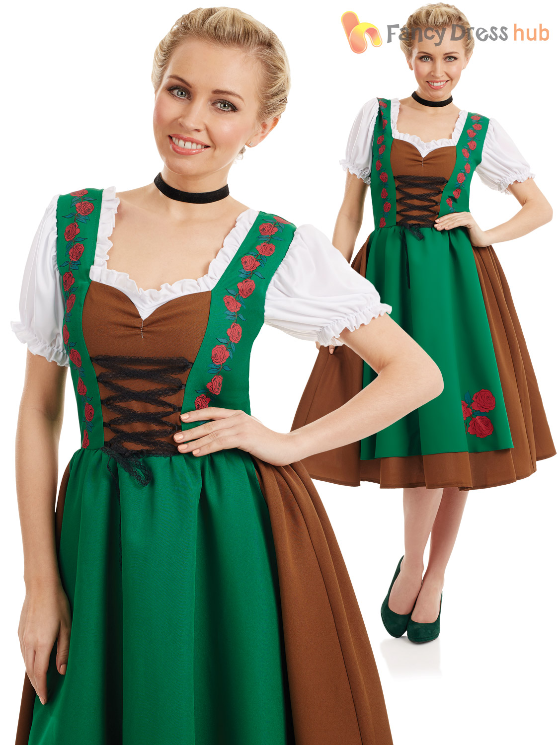 Oktoberfest-Costume-Mens-Ladies-Traditional-Bavarian-Outfit-German-  sc 1 st  Ebay SG & Oktoberfest Costume Mens Ladies Traditional Bavarian Outfit German ...