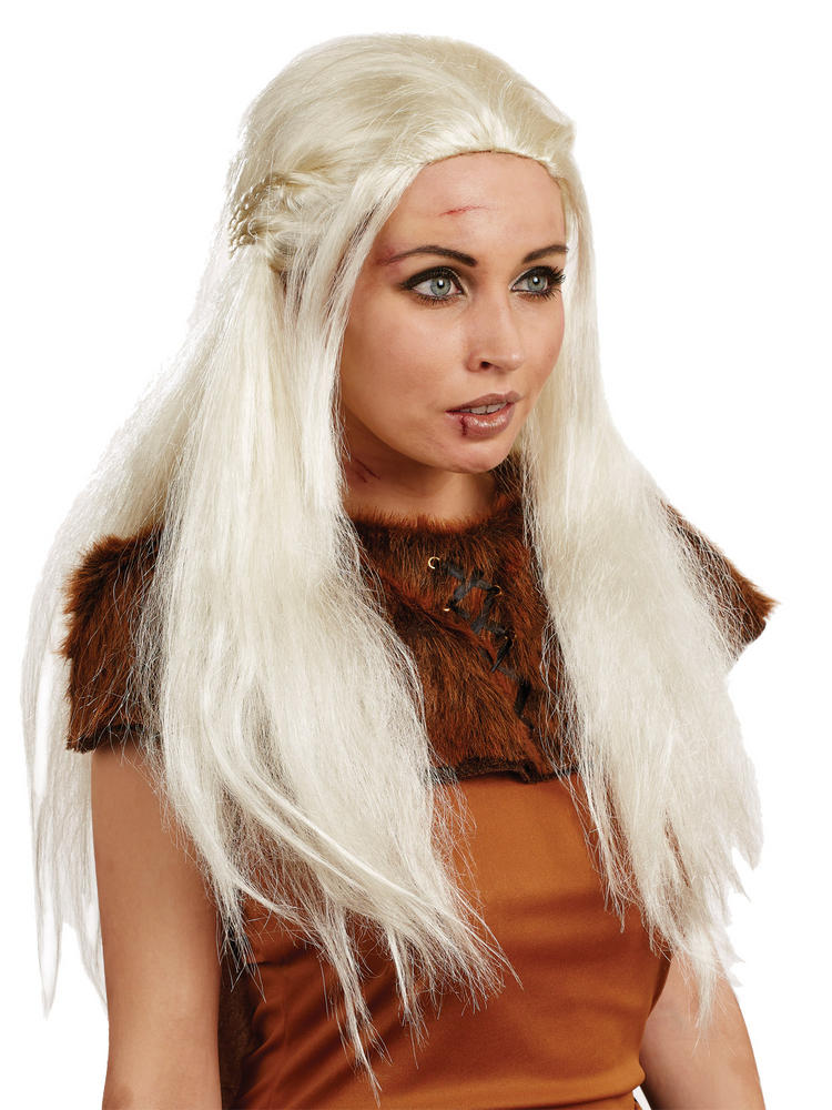Ladies Daenerys Game of Thrones Wig Women Medieval Fancy Dress Costume Accessory