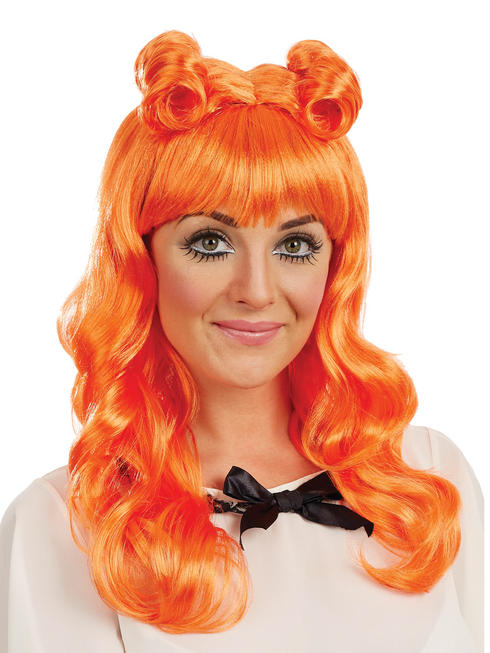 Ladies Orange Cosplay Wig