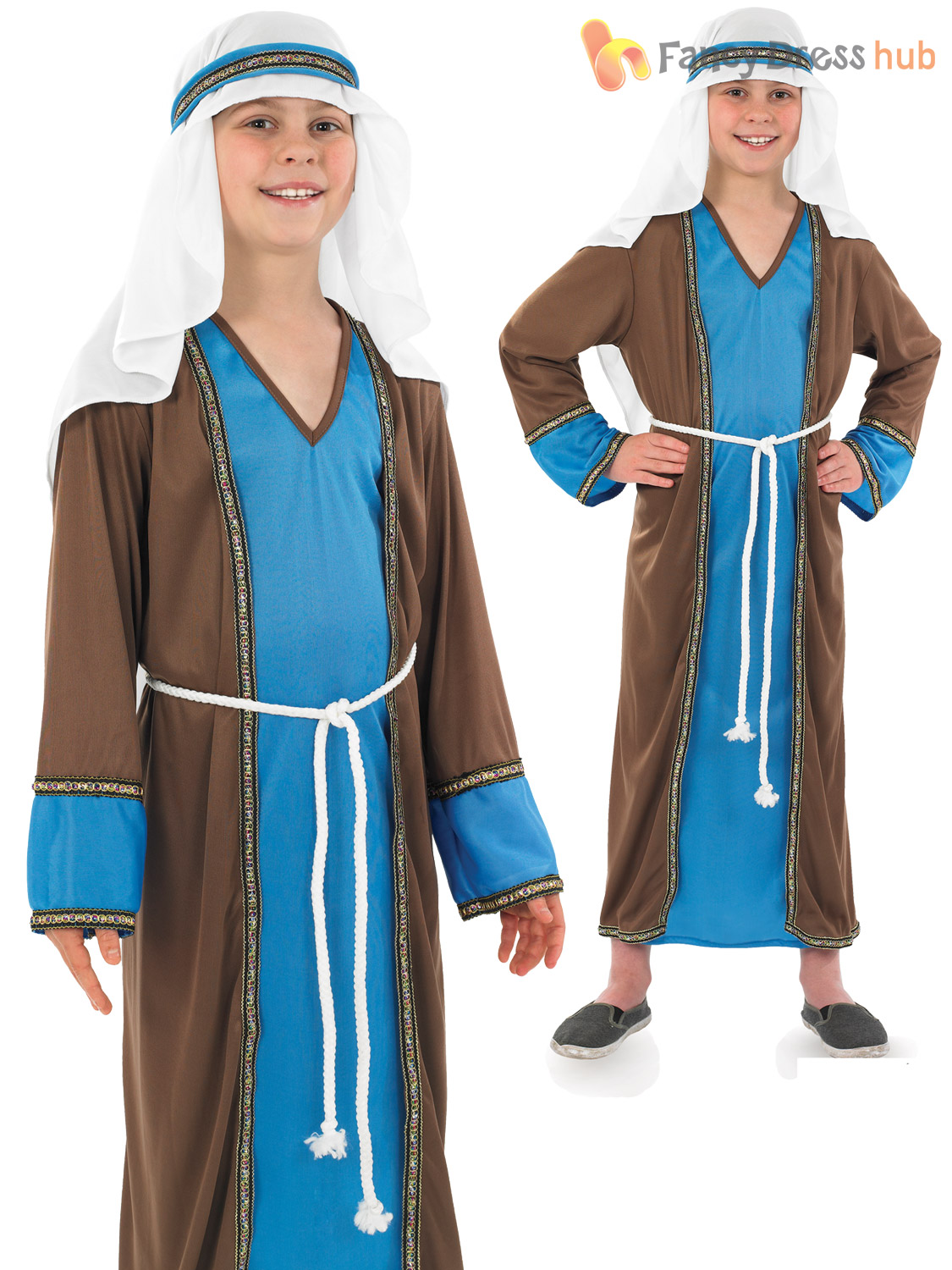 Medium Boys Joseph Costume - M Fancy Dress up Nativity Xmas Party ...