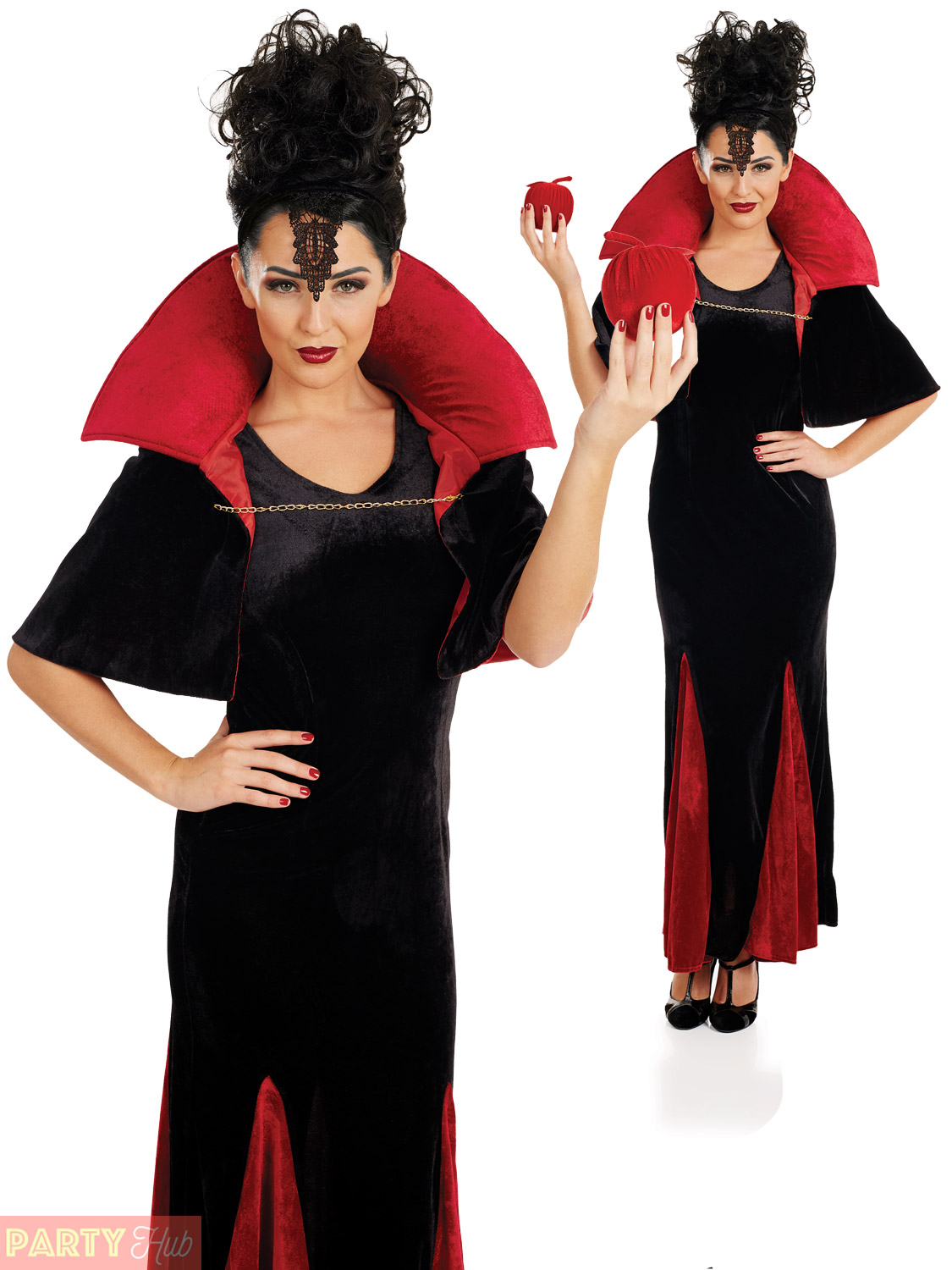 Ladies-Evil-Queen-Halloween-Costume-Snow-White-Wicked-  sc 1 st  eBay & Ladies Evil Queen Halloween Costume Snow White Wicked Stepmother ...