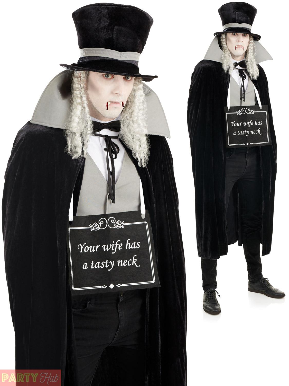 mens victorian silent film vampire costume dracula halloween - Halloween Dracula Costumes