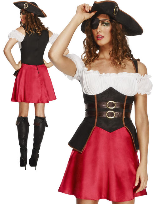 Ladies Fever Pirate Wench Costume