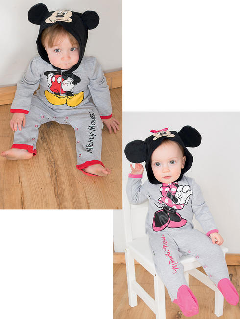 Baby Mickey Mouse Romper with Hood