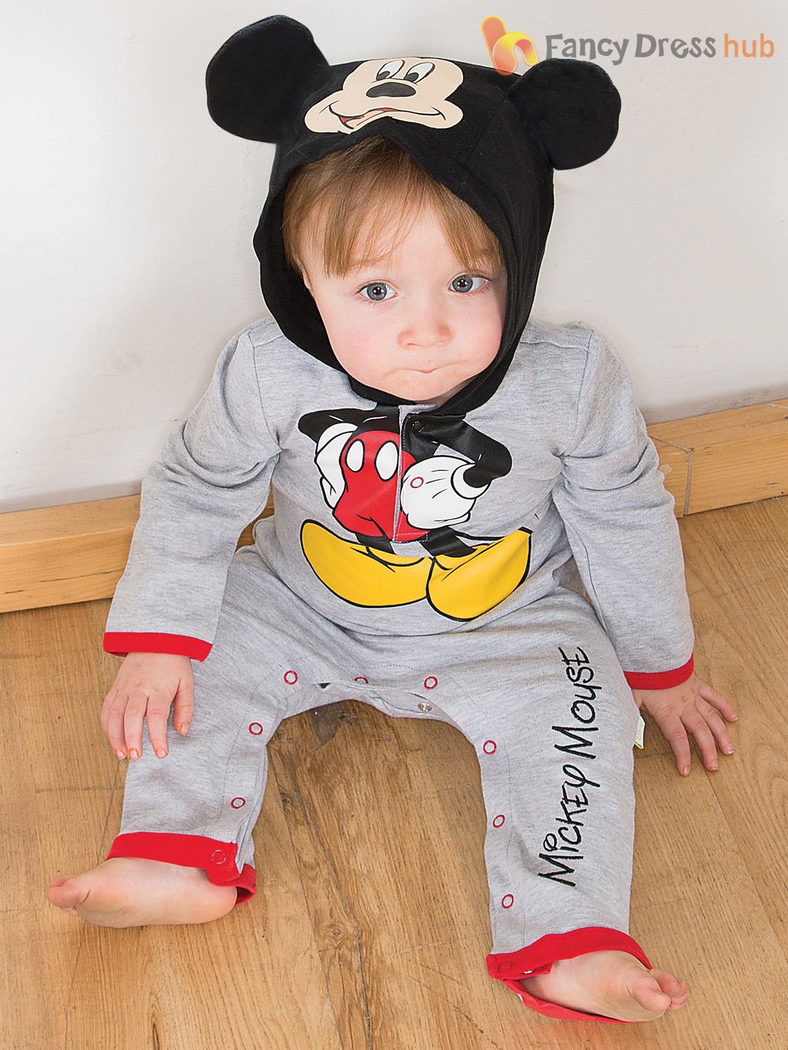 Disney Baby Mickey Mouse Minnie Romper Hood Toddler Fancy Dress