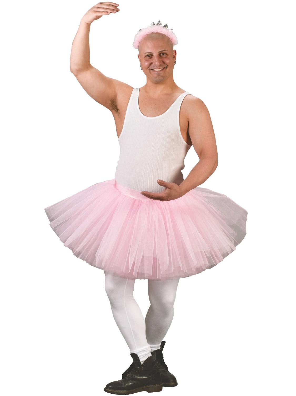 Adults Tutu Fancy Dress Mens Ballerina Costume Rainbow Fairy Skirt